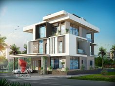 A great ultra modern bungalow design gives a complete new style statement to your dream project. Bungalow style means different things to different people and is therefore not a particularly pre… Bungalow Haus Design, Duplex House Design, House Front Design, Modern House Design, Ultra Modern Homes, Modern Prefab Homes, Villa Design, Bungalows, Modern Bungalow Exterior