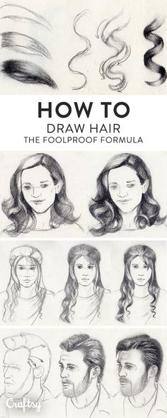Drawing hair can be confusing, especially when you consider all the different styles. Learn how to draw hairstyles of all kinds with our tips and tutorials.