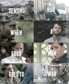I love this Doctor Who quote for the Winchesters.