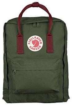 Fjallraven Kanken Backpack, Forest Green Ox Red Fjallraven