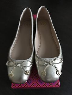 c885358e53b Authentic Tory Burch Spark Gold Laila Ballet Flats 7.5 Barely Worn! Sold  Out!