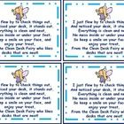 The clean desk fairy can visit your room and leave one of these cards and a small treat for a student with a clean desk.  You can also sprinkle a l...