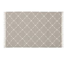 Dot 'N Dash Indoor/Outdoor Rug - Gray #potterybarn-for the study