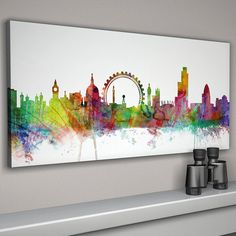 london city skyline print by artpause | notonthehighstreet.com