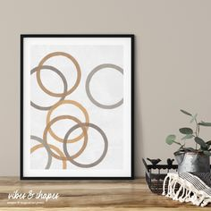 Abstract Magic Poster - perfect for combination. Make your individual wall gallery! #wallgallery #geometry #poster Shape Posters, Graphic Design Posters, Magical Home, Cool Shapes, Magic Circle, Modern Art Prints, All Poster, Typography Prints, Unique Art