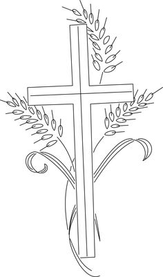 Vintage embroidery transfers in the public domain. Embroidery Patterns, Hand Embroidery, Cross Stitch Patterns, Machine Embroidery, Church Banners Designs, First Communion Banner, Cross Drawing, Cross Quilt, Easter Coloring Pages