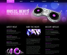 Free template can be used for music websites. Music Website Templates, Music Websites, Music Beats, Listening To Music, Web Design, Logo, Google, Page Layout, Design Web