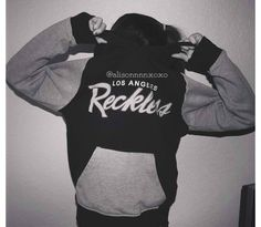 Young and reckless hoodie mint and grey