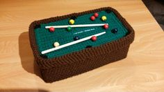 Crochet pool table tissue box cozy cover                                                                                                                                                      More