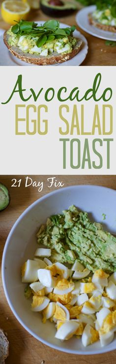 21df | avocado egg salad toast.