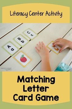 This printable alphabet card game comes with a set of larger alphabet posters. It's perfect for use in a literacy center or small groups! Preschoolers and kindergarteners will both love matching the… More
