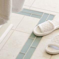 modern bathroom floor tiles in white and blue