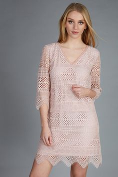 lace dress in soft pink #girly #twin-set #ss17