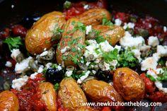Neue Kartoffeln in pikanter Tomatensauce
