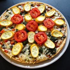 Receta de Pizza vegetariana casera