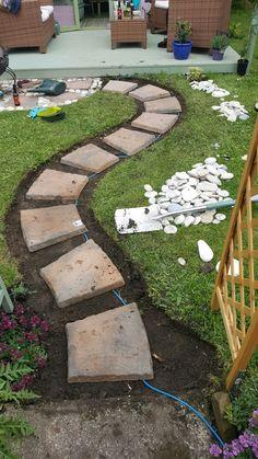 backyard design – Gardening Tips Outdoor Landscaping, Front Yard Landscaping, Outdoor Gardens, Front Garden Landscape, Garden Paving, Garden Paths, Garden Ideas Budget Backyard, Garden Projects, Garden Design