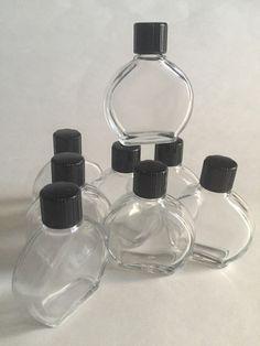 EMPTY Wholesale Glass Bottles Watch Shape 1/2 oz Bl Cap Qty 20 BUY 3 GET 1 FREE #watchshape Glass Bottles, Perfume Bottles, Body Oils, Oil Bottle, Selling On Ebay, Sell On Etsy, Empty, Cap, Shapes