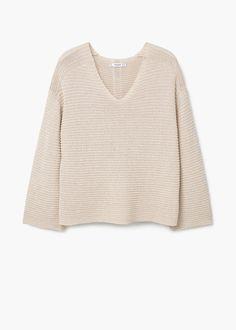 Getextureerde katoenen trui | MANGO