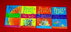 4 Roald Dahl Chapter Books Charlie Chocolate Elevator Peach Grade 3rd 4th 5th 6t