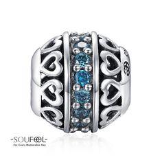 Soufeel March Birthstone Ocean Blue Charm 925 Sterling Silver Shop->http://www.soufeel.com/march-birthstone-ocean-blue-charm-925-sterling-silver.html