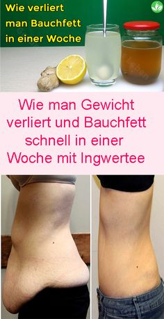 How To Lose Weight And Belly Fat Fast In A Week With Ginger Tea Wie man Gewicht verliert und Bauchfett schnell in einer Woche mit Ingwertee You see our video, make this slimming drink, drink it, then let us know how you feel Lose Weight In A Week, Want To Lose Weight, Weight Loss Drinks, Weight Loss Tips, Adele Weight, Gewichtsverlust Motivation, Ginger Tea, Regular Exercise, Diet And Nutrition