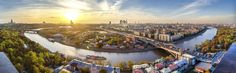HD Wallpaper Downtown Moscow Russia Panorama [3840x1200] - See more on Classy Bro