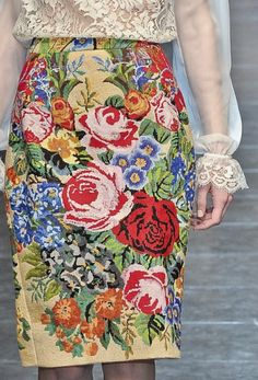Dolce & Gabbana skirt.Vintage inspired floral with sheer lace top. Beautiful like a rose patterned china tea cup.