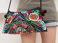 Tribal Indian Vintage Boho Ethnic Embroidered Purse Bag