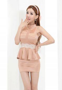 Sexy peach dress 14FA-BR969