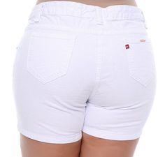 Shorts Plus Size Resort Branco