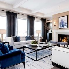 Nadire Atas on Elegant Living Rooms These beautiful furniture pieces helped make this room! We love being able to support our… Elegant Living Room, Formal Living Rooms, Living Room Sets, Home Living Room, Living Room Designs, Living Room Drapes, Bedroom Drapes, Living Area, Luxury Interior