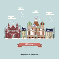 Lovely Moscow city I Free Vector