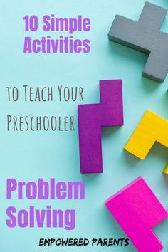 Teach your preschool kids to tackle challenges and build vital skills with these fun problem-solving activities and games. They are great for home or school. Preschool Learning, Kindergarten Activities, Early Learning, Learning Activities, Toddler Activities, Preschool Activities, Teaching Art, Joseph Activities, Feelings Preschool