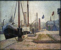 """artist-seurat: """"The Maria, Honfleur, Georges Seurat Medium: oil,canvas"""" Georges Seurat, Puntillismo Seurat, Monet, Honfleur, Oil Canvas, Impressionist Artists, Post Impressionism, Oil Painting Reproductions, French Art"""