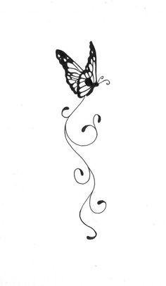Butterfly Tattoo By Kauniitaunia On DeviantART Simple Butterfly Tattoo, Tribal Butterfly Tattoo, Butterfly Tattoo Designs, Butterfly Images, Great Tattoos, Mini Tattoos, Small Tattoos, Divergent Tattoo, Ankle Tattoos For Women