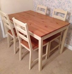 images of painted kitchen table and chairs | ... Shabby Chic Painted Pine Dining Table And 4 Chairs In Annie Sloan