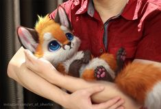 Who doesn't wish they could interact with adorable fantasy animals? The Malaysian artist Yee Chong draws these little creatures digitally and brings them out into the real world. Cute Cartoon Animals, Anime Animals, Cute Little Animals, Adorable Animals, Small Animals, Cute Fantasy Creatures, Cute Creatures, Cute Animal Drawings, Cute Drawings