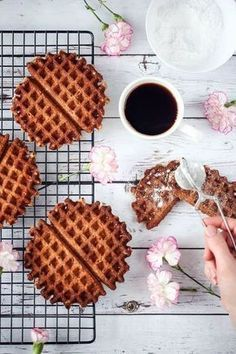 My Favorite Food, Favorite Recipes, My Favorite Things, Gluten Free Recipes, Waffles, Cooking, Breakfast, Sweet, Drink