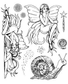Art Journey Design-team: New Fairy Tale Art Journey Stamps Scrapbooking Photo, Diy Scrapbook, Crystal Drawing, Drawing Stencils, Cute Tats, Tampons Transparents, Free Adult Coloring Pages, Bulletins, Fairytale Art