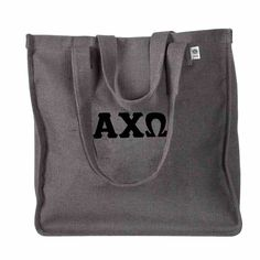 Now available Alpha Chi Omega B... Shop http://manddsororitygifts.com/products/alpha-chi-omega-bag-grey-greek?utm_campaign=social_autopilot&utm_source=pin&utm_medium=pin