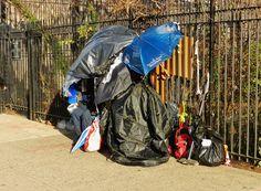 EV Grieve: City removes homeless man's makeshift shelter from ...