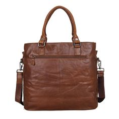 Vintage Leather Handbag Tote Bag