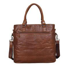 Vintage Leather Handbag Tote Bag