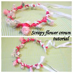 Scrap Buster Contest Entry ~ Scrappy Flower Crown Tutorial « Sew,Mama,Sew! Blog