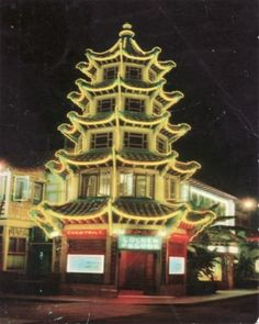 Golden Pagoda restaurant L.A. Here it is at night.