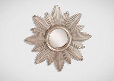"""26"""" Silver Sunburst Mirror"""