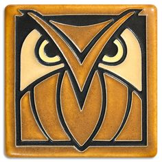 "Motawi Tileworks Collection Our customers were so enthused by our Owl relief tile that we just had to create a polychrome. This tile is inspired by a Great Horned Owl. Actual tile size: 3-13/16"" squar"