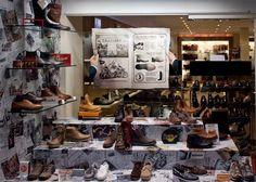 Mens shoes retro display