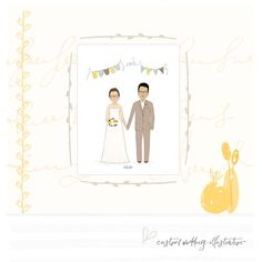 Unique Wedding Gift For Couple Custom Wedding Illustration Personalized Couples Portrait Wedding Gift Ideas Anniversary Gift For Couple Etsy Shop Names, Unique Gifts, Handmade Gifts, Gift Wedding, Wedding Portraits, Unique Weddings, Connect, Etsy Seller, Invitations