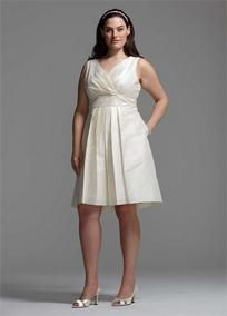 Designed in a beautiful shantung fabric, this girly yet glamorous dress features a fully embellished waist in front and back. Surplice tank bodice and full,A-line skirt create a flattering silhouette for almost any body type.